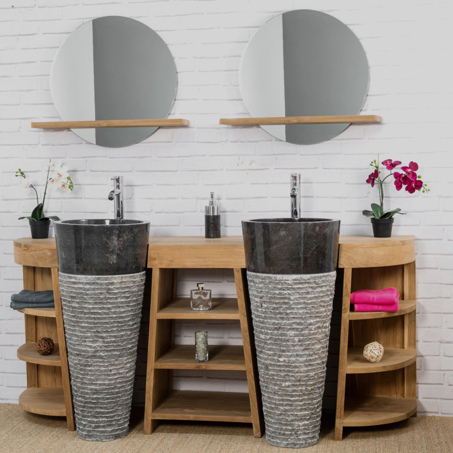 Meuble Salle De Bain Teck Castorama Inspirant Images Parfait 43 Concept Meuble Salle De Bain Vasque Le Plus Efficace