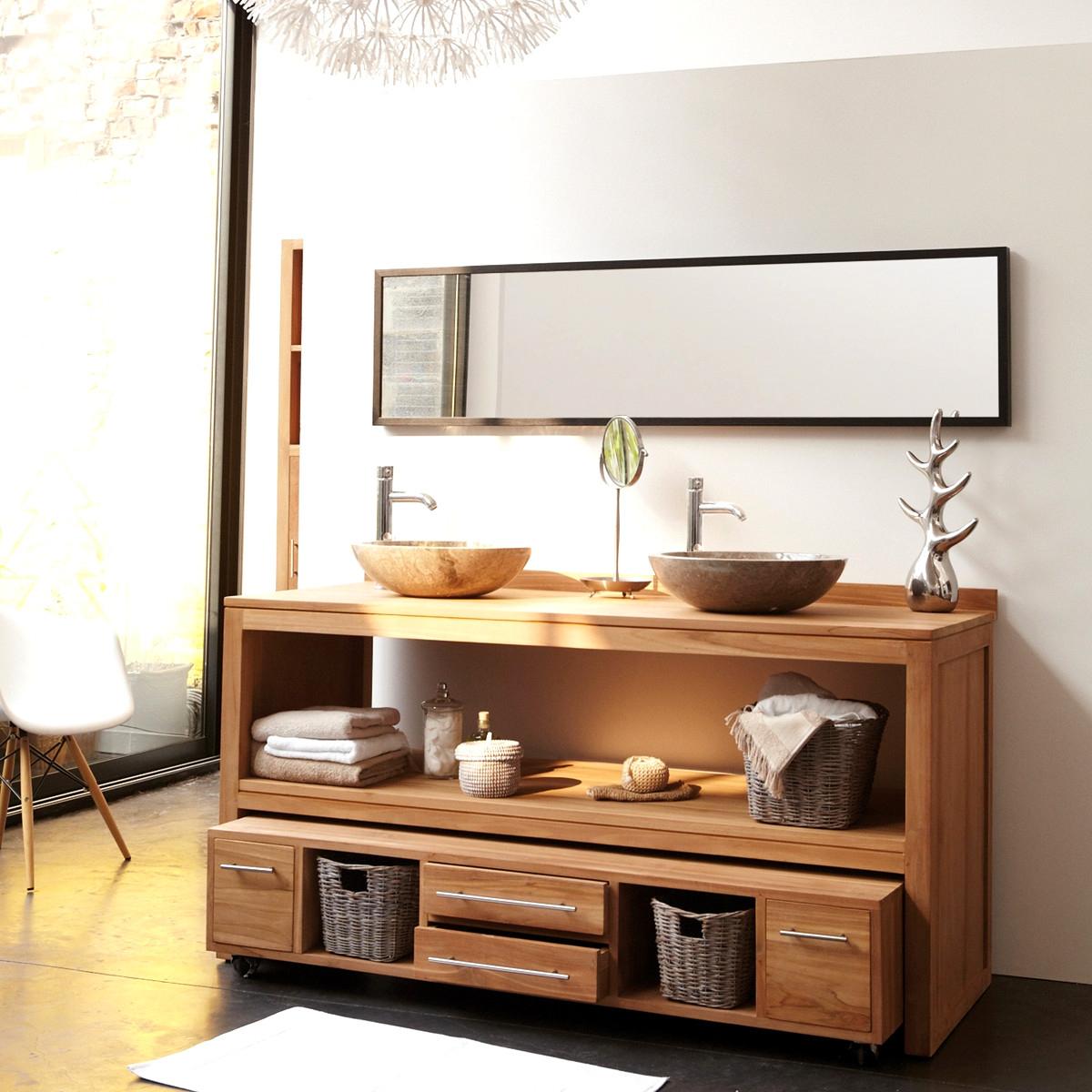 Meuble salle de bain teck colonial impressionnant images 25meilleur de meuble salle bain teck - Meuble salle de bain teck colonial ...