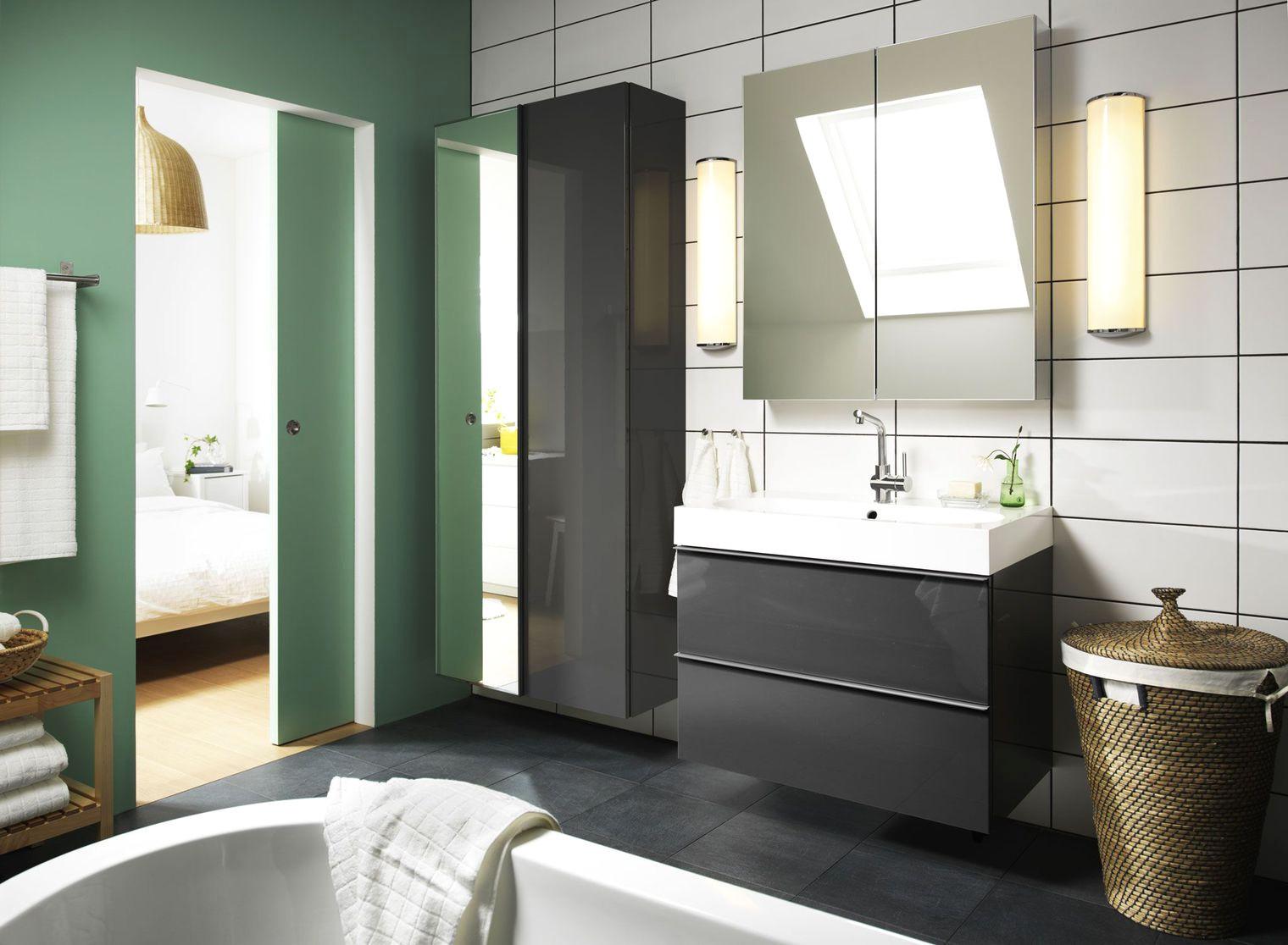 meuble salle de bain rouge ikea. Black Bedroom Furniture Sets. Home Design Ideas
