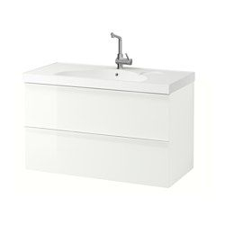 Meubles sous Lavabo Ikea Impressionnant Photos Godmorgon Edeboviken Sink Cabinet with 2 Drawers High Gloss