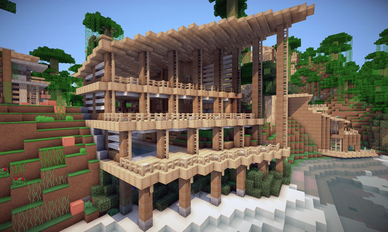 Minecraft Deco Moderne Beau Photos Jungle House On World Of Keralis Minecraft Project
