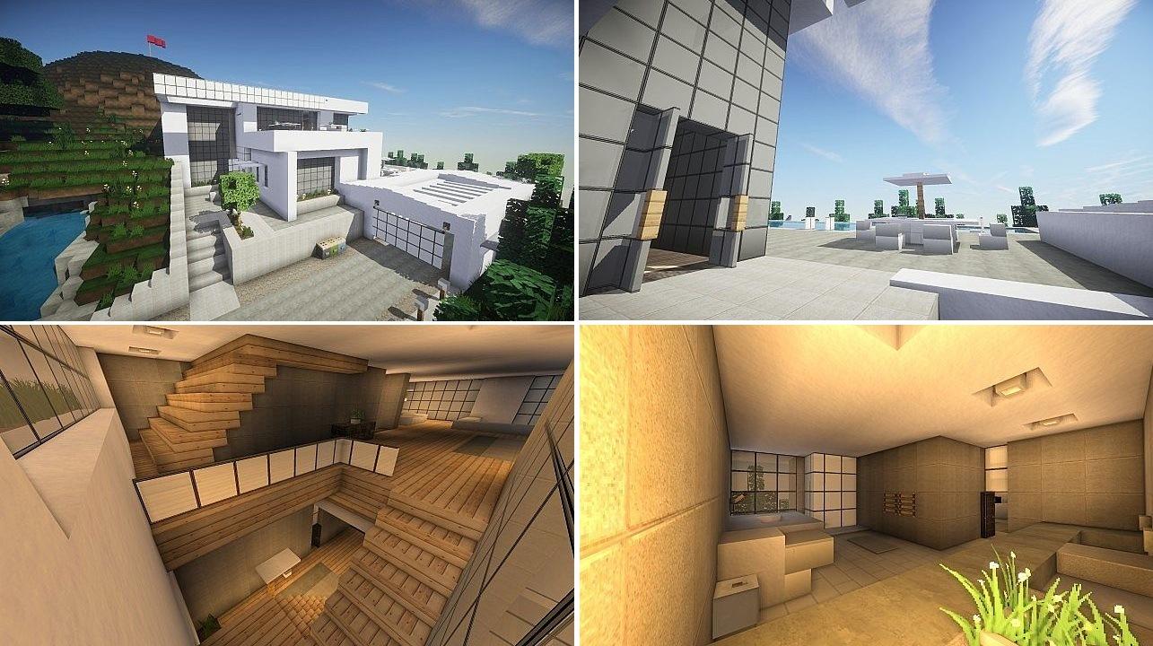Minecraft Deco Moderne Impressionnant Galerie Les 11 Nouveau Chambre De Luxe Avec Piscine Intérieur S