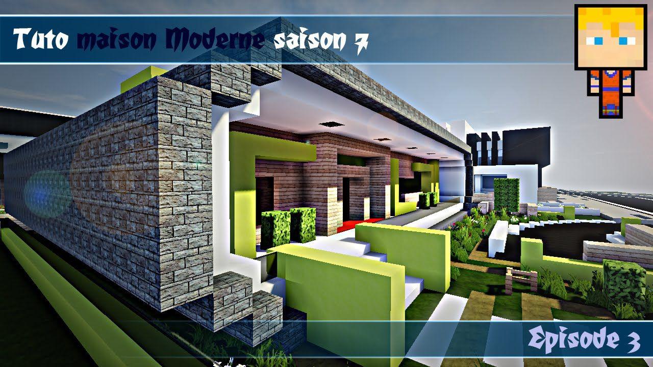 Minecraft Deco Moderne Luxe Photos Minecraft Tuto Maison Moderne N° Ep3 4