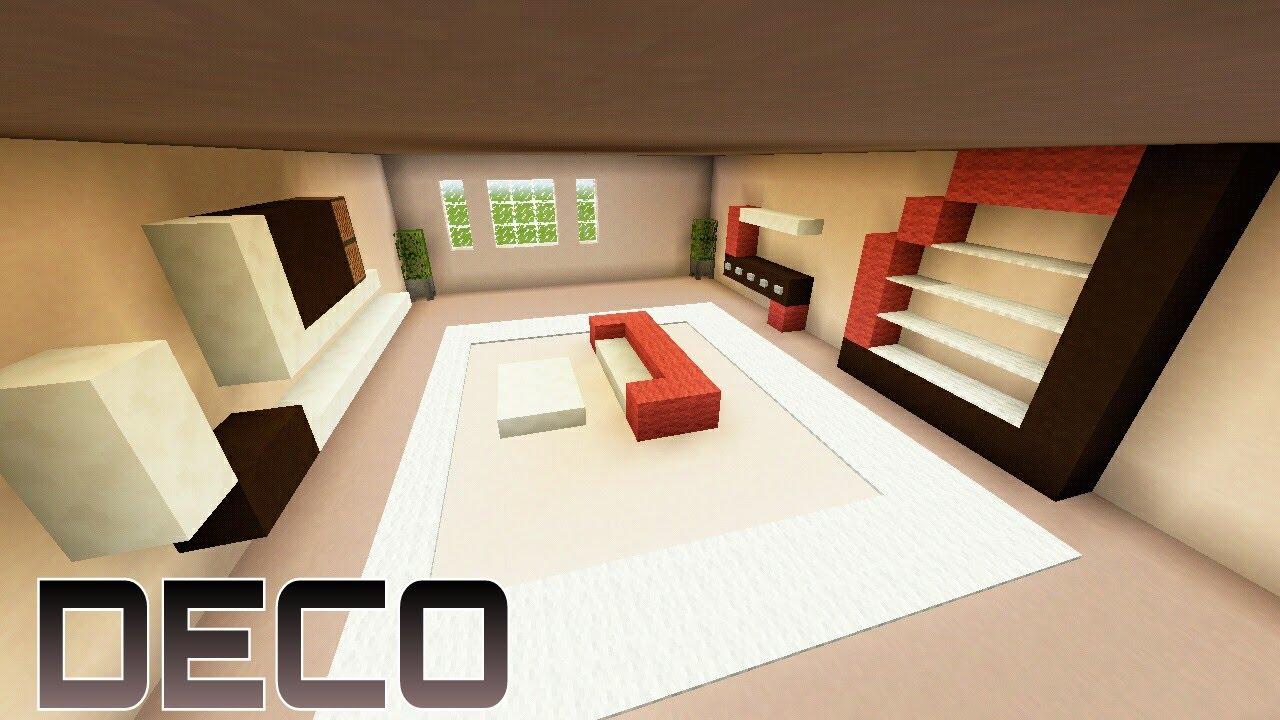 Minecraft Meuble Moderne Frais Stock Chambre Moderne Bleue