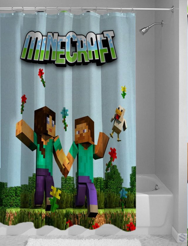 Minecraft Salle De Bain Beau Photos Minecraft Couple Character Steve Best Design Shower Curtain Cheap