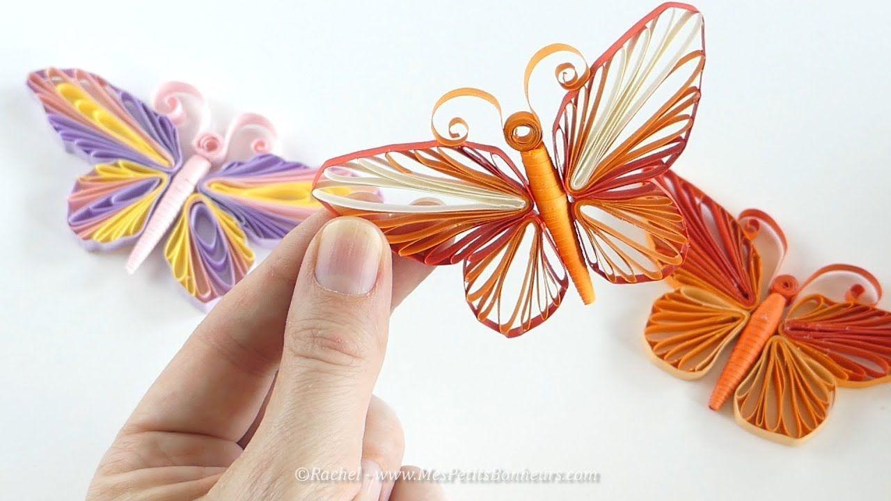 Modele De Quilling A Imprimer Gratuit Impressionnant Photos Papillon En Quilling Tuto Avec Gabarit  Imprimer