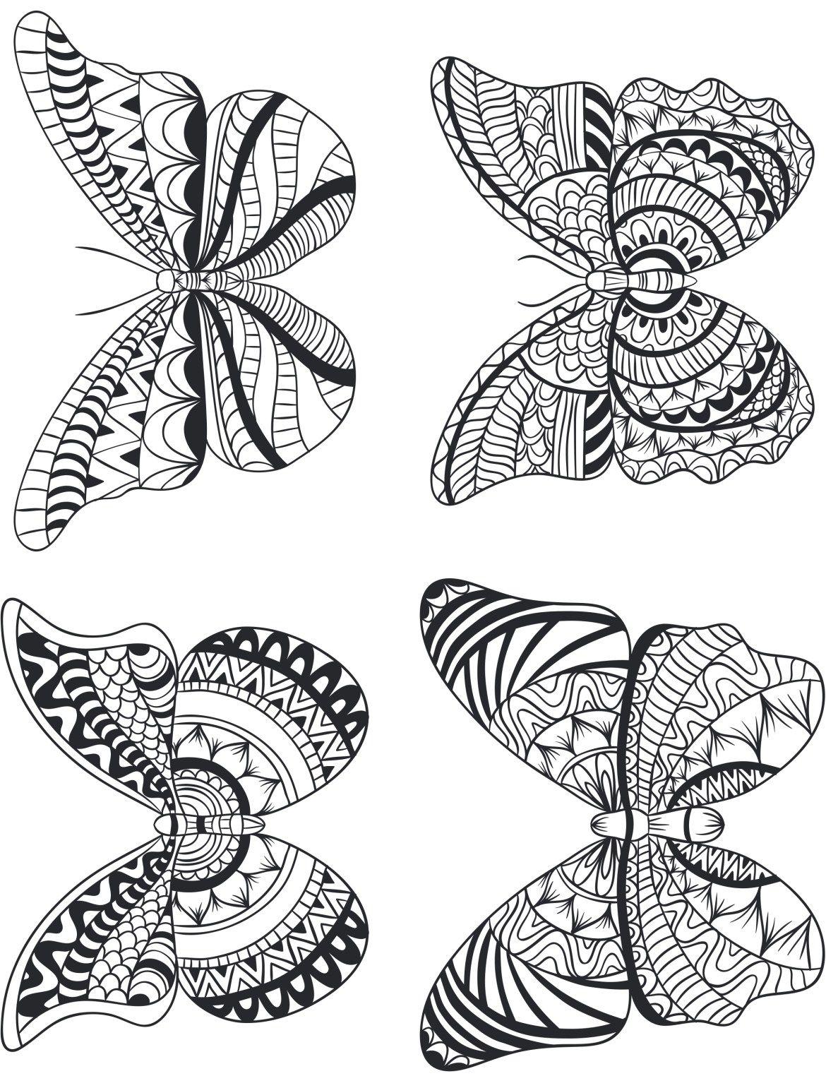Modele Quilling A Imprimer Impressionnant Photos Quatre Papillon Géométrie Pour Adulte  Imprimer