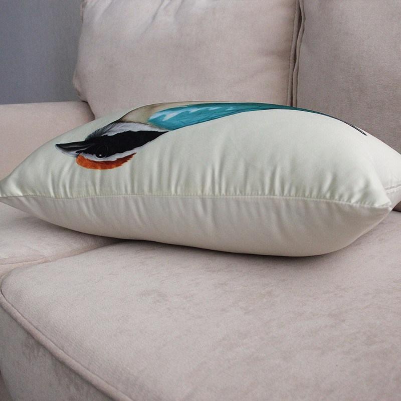 Nettoyer Canapé En Daim Unique Image ⊹continental Creative Peint Oiseau Taie D oreiller Coussin Canapé