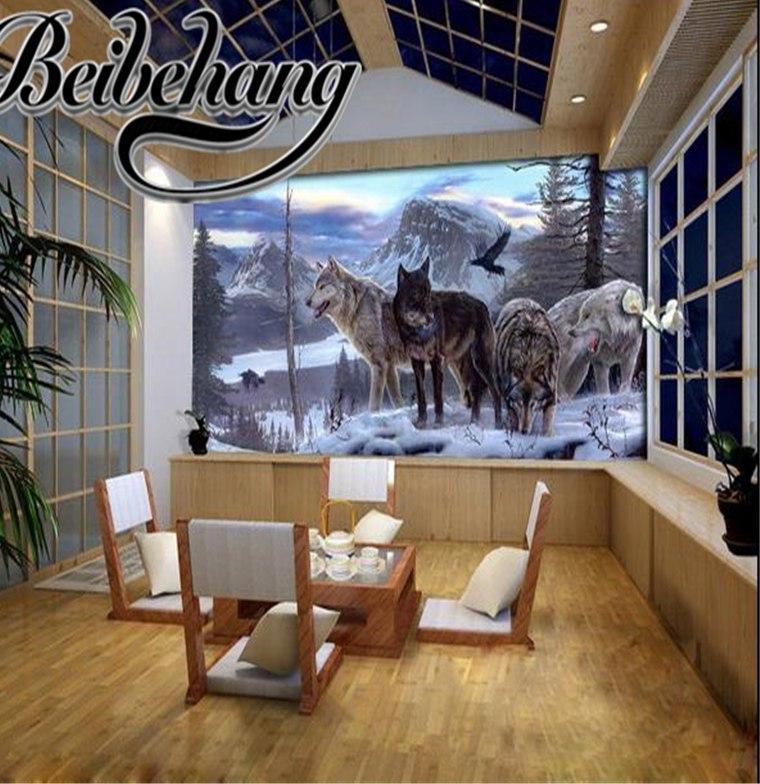 Nettoyer Un Canapé En Cuir Avec Du Lait De toilette Beau Galerie Beibehang Livraison Gratuite 3d Murale Personnalisée Loup totem