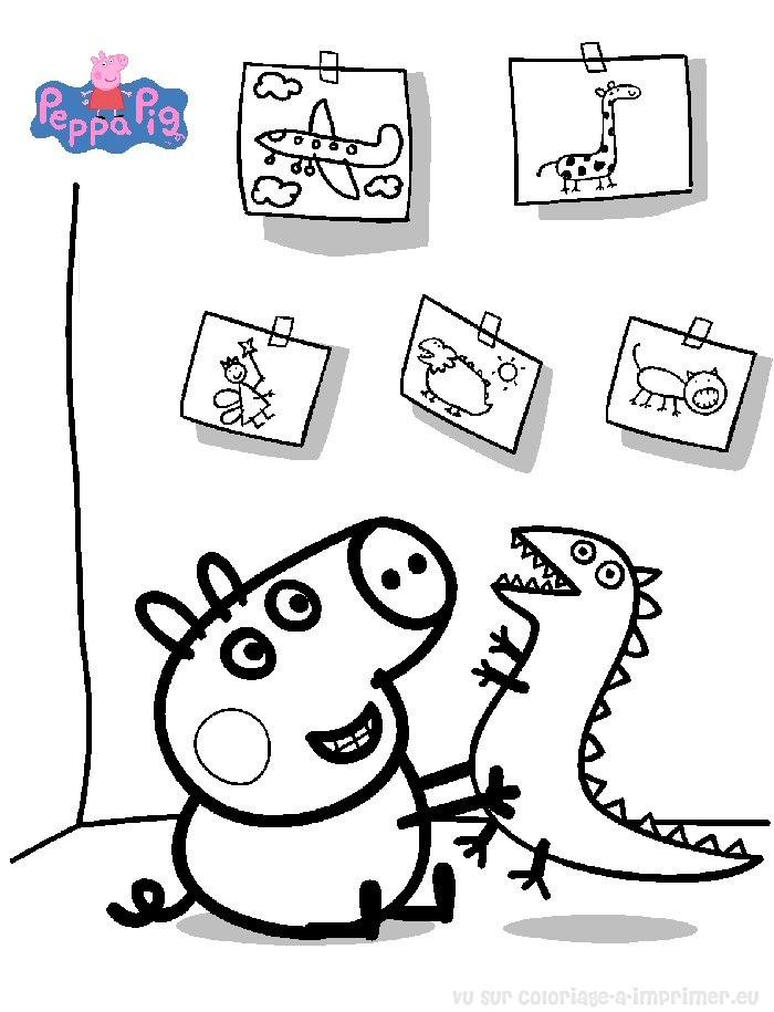 Peppa Pig à Imprimer Beau Galerie Coloriage ƒ Dessiner De Peppa Pig En Ligne