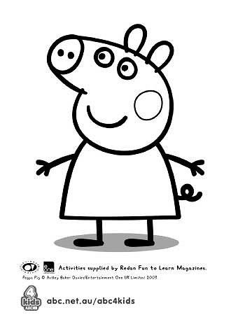 Peppa Pig à Imprimer Impressionnant Photographie Peppa Pig Template for Birthday Cake