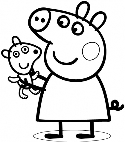 Peppa Pig Coloriage à Imprimer Beau Stock Coloriage ƒ Dessiner De Peppa Pig En Ligne