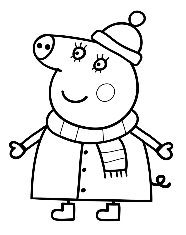 Peppa Pig Coloriage à Imprimer Élégant Images Coloriage Noel Peppa Pig Meilleures Idées Coloriage Pour Les Enfants