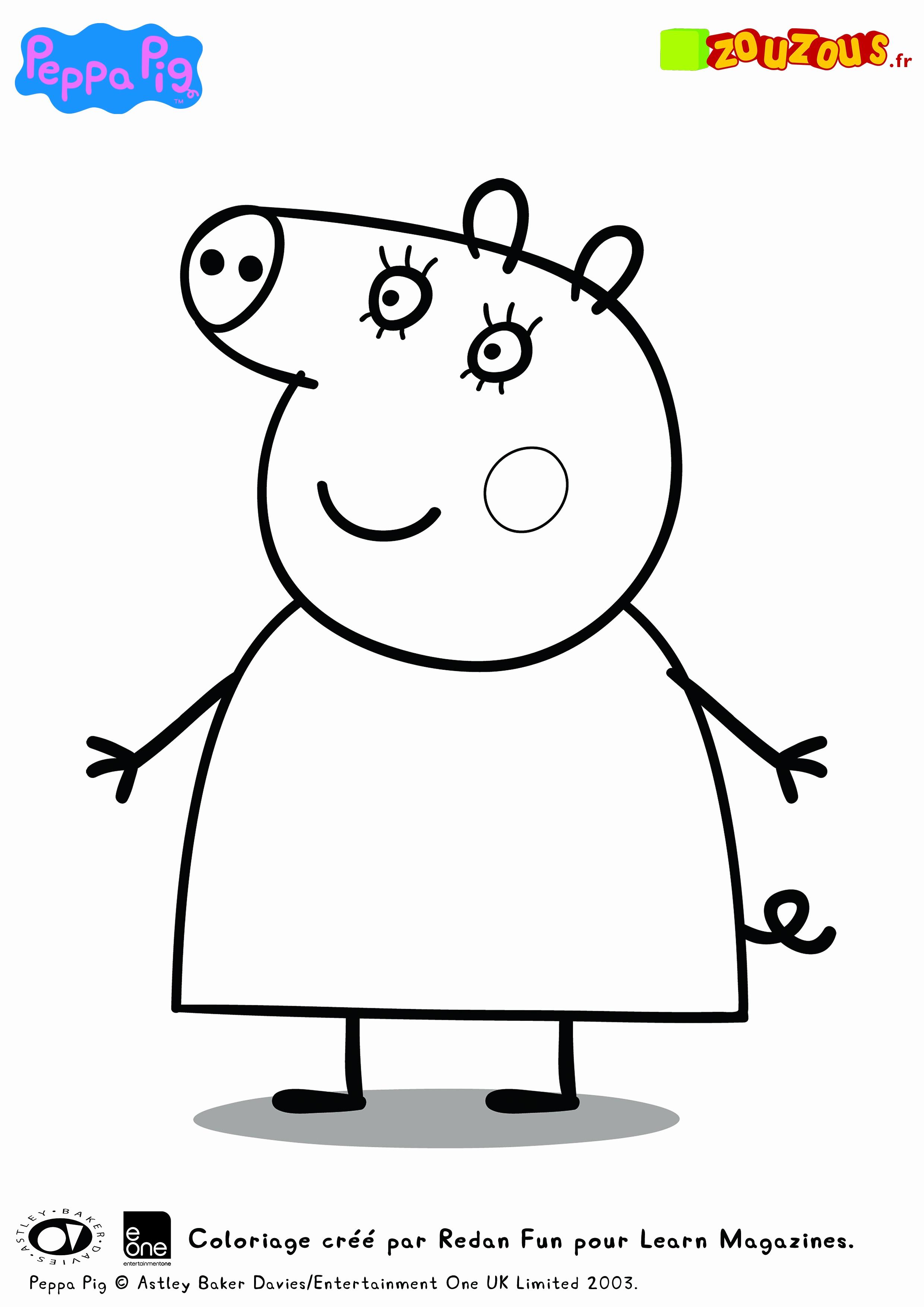 Peppa Pig Imprimer Beau Photos Téléchargement Gratuit Page  Colorier