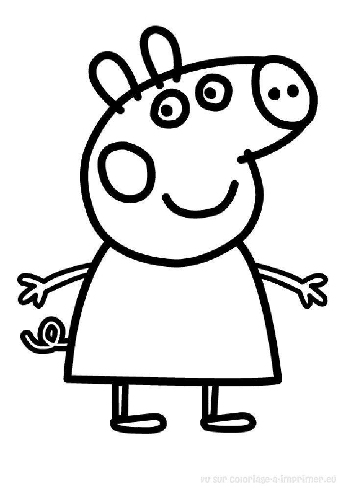 Peppa Pig Imprimer Frais Photos Coloriage Peppa Pig  Colorier Dessin  Imprimer