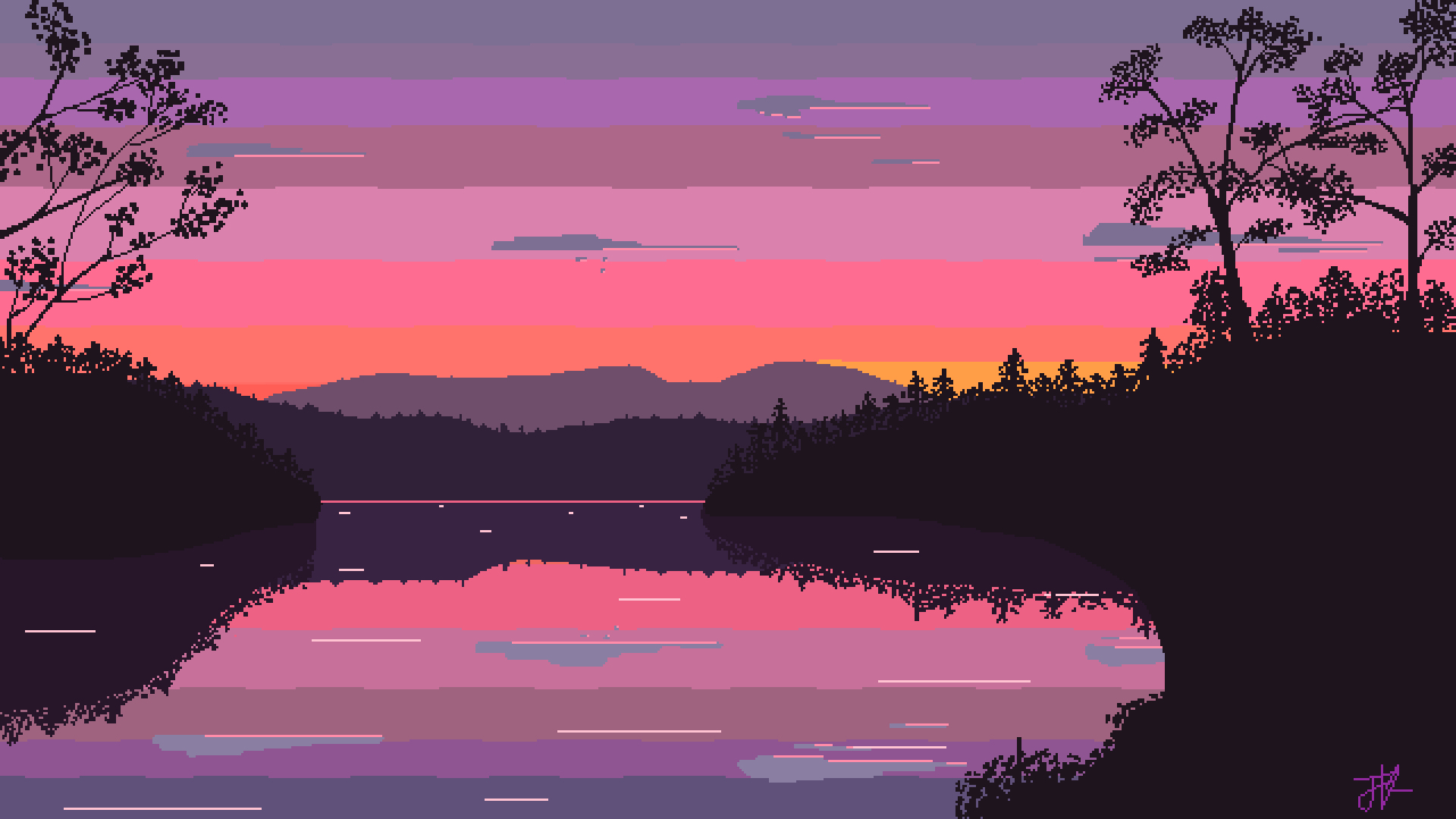 Pixel Art A Manger Impressionnant Photos Morning Lake Pixel Art Need iPhone 6s Plus Wallpaper