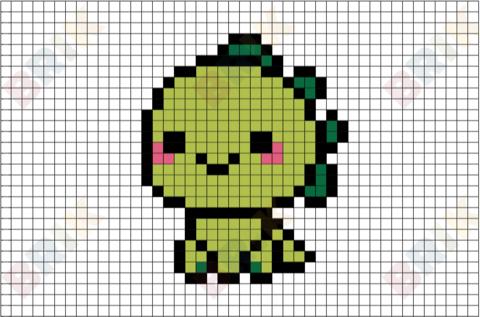Pixel Art A Manger Nouveau Image Dinosaur Pixel Art Brik Pixel Art Designs Pinterest