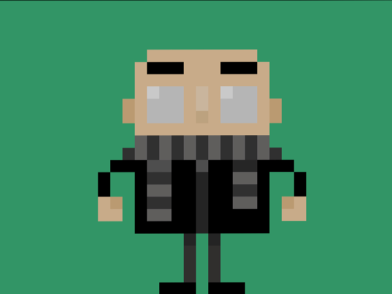 """Pixel Art Manger Luxe Photos Famous Characters In Pixel Art """"gru"""" From Despicable Me"""