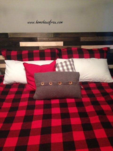 Plaid Blanc Ikea Luxe Photographie Love My Lumberjack Plaid Bedding and Diy Wood Headboard Out Of Ikea