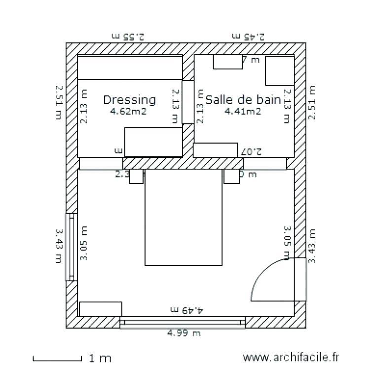 Plan Chambre Avec Dressing Élégant Photos Plan Chambre Salle De Bain