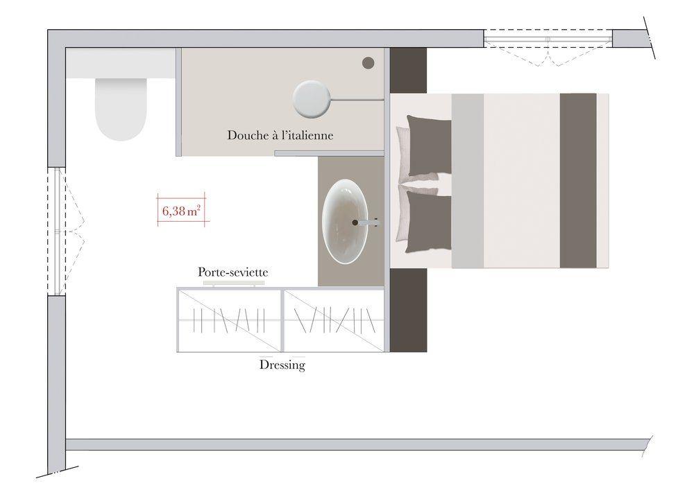 Plan Chambre Avec Dressing Impressionnant Images J Aime Cette Photo Sur Deco Et Vous