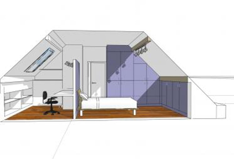 Plan Chambre Avec Dressing Impressionnant Photos Suite Parentale sous Pente Salle De Bain Et Dressing Pour Suite