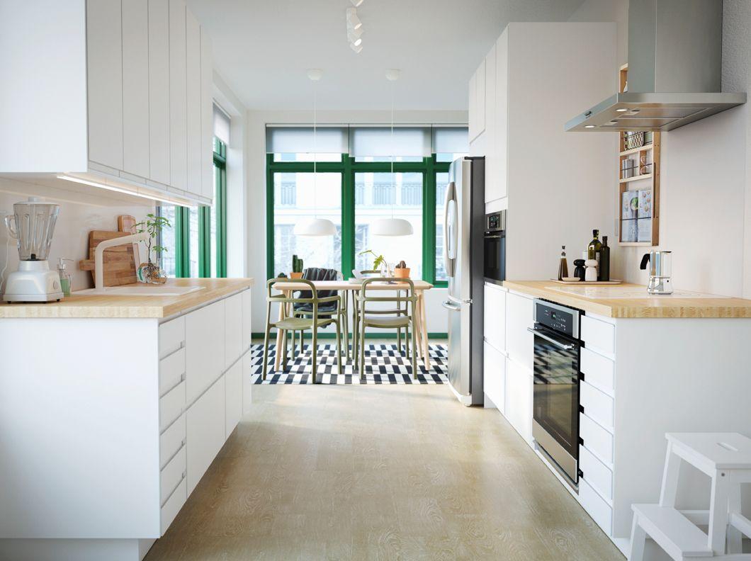 Plan De Travail Salle De Bain Ikea Nouveau Photos Kuhinja Sa Elegantnim Belim Voxtorp Vratima I Pinnarp Radnom Pločom