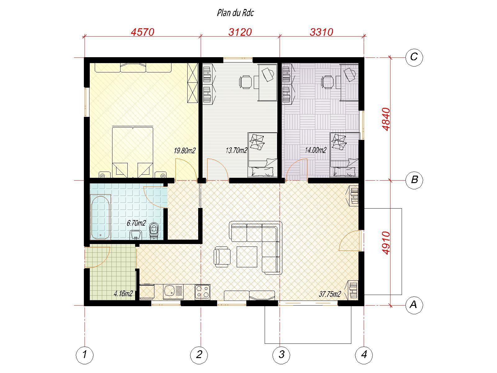 Plan Salle De Bain 5m2 Élégant Collection Plan Salle De Bain 5m2 Plan Salle De Bain 5m2 Fraisberlioz 2 Salle