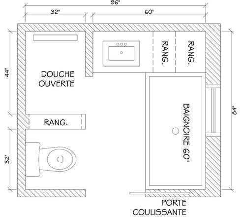 Plan Salle De Bain 5m2 Impressionnant Photos Plan Salle De Bain Avec Douche Et Baignoire Salle De Salle De Bain
