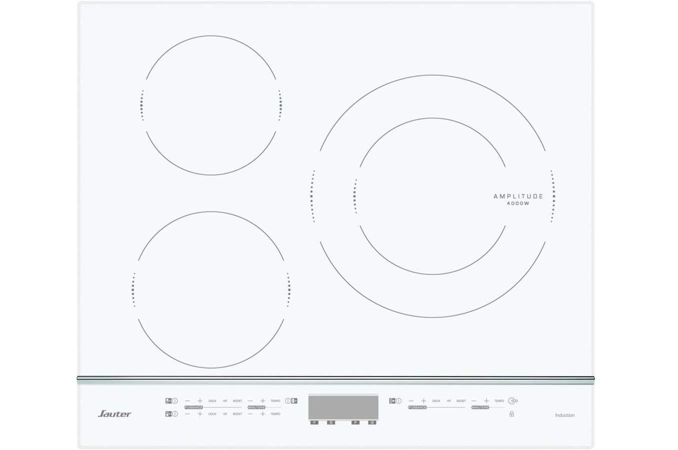 Plaque Induction Avec Boutons De Commande Élégant Stock Sauter Spi4360w Intégré Induction Blanc Plaque Plaques Intégré
