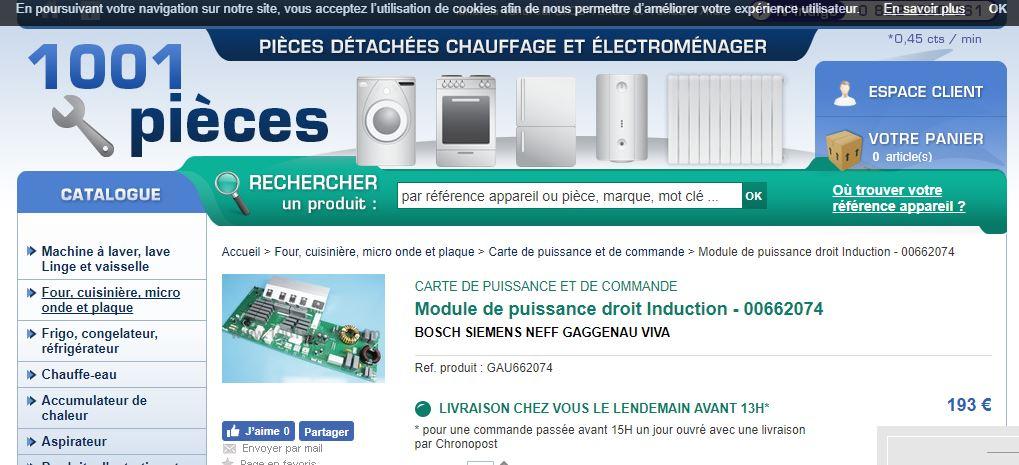 Plaque Induction Avec Boutons De Commande Unique Images forum tout Electromenager Panne Plaque Induction Siemens