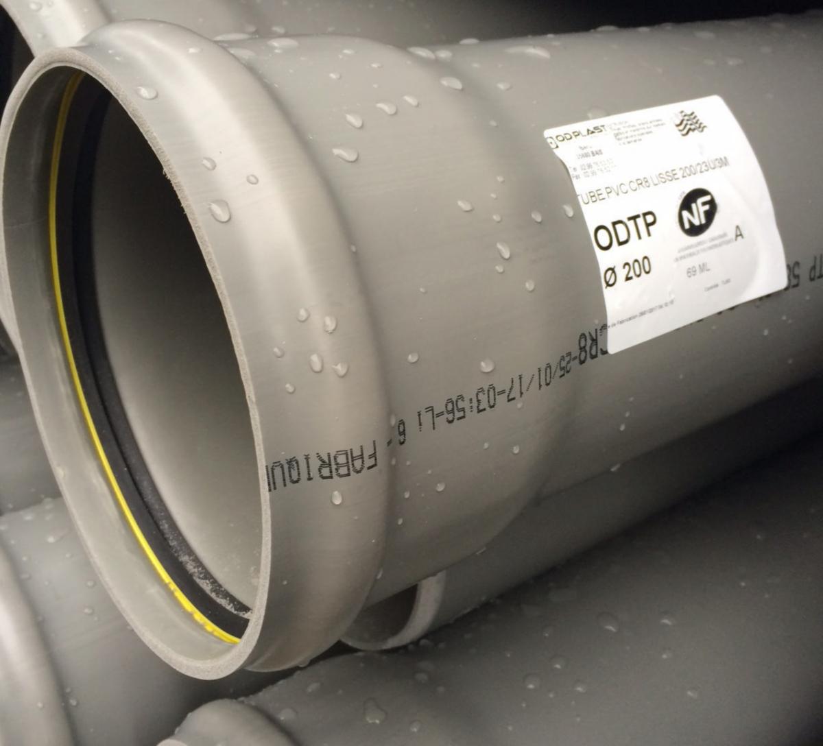 Point P Carrelage Mural Élégant Photographie Tube Pvc Cr8 L Lisse Diam¨tre 200 Avec Joint Longueur 3m Od Plast