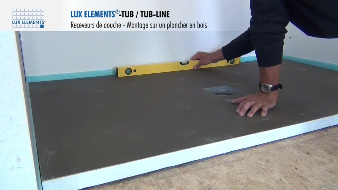 Pose Receveur Extra Plat Inspirant Image Lux Elements Montage Tub Tub Line Receveur De Douche Fleur De Con