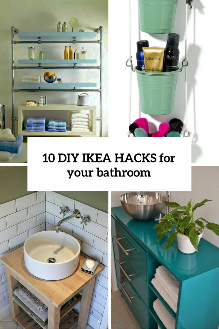 Rack A Verre Suspendu Ikea Impressionnant Photos 10 Cool Diy Ikea Hacks Pour Rendre Votre Salle De Bain Confortable