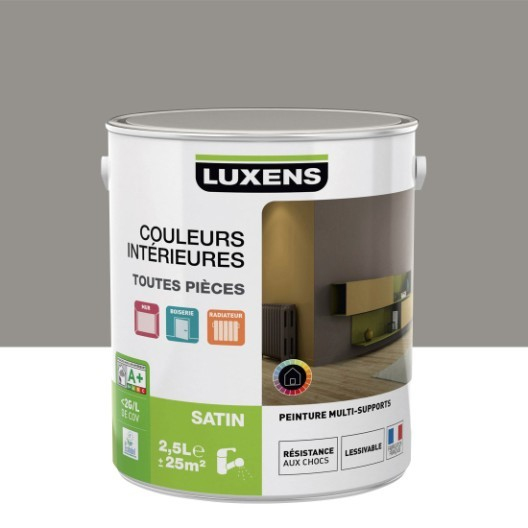 Radiateur Electrique Sur Roulette Leroy Merlin Beau Photographie Peinture Gris Gris 3 Satin Luxens Couleurs Intérieures Satin 2 5 L