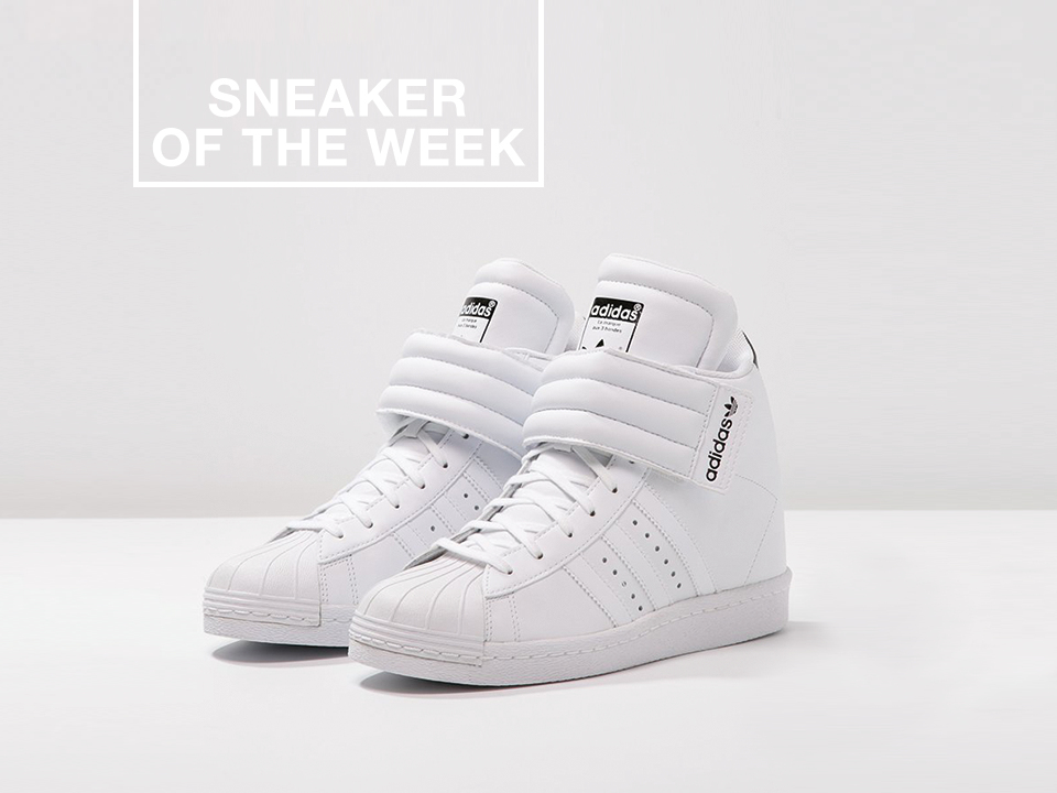 Run Up Prix Impressionnant Photos Adidas originals Superstar Up Baskets Montantes White Core Black