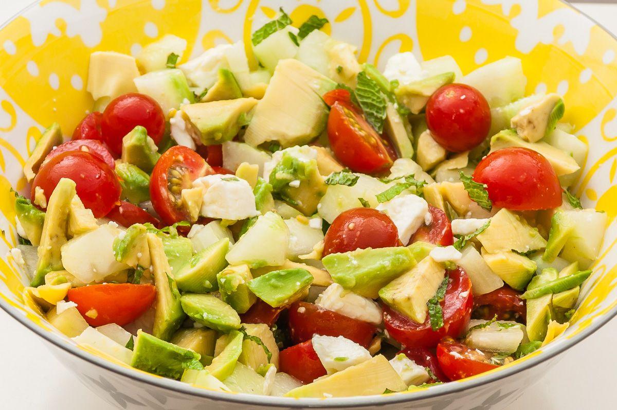 Salade De Perles Au Chorizo Élégant Collection Salade De Con Bre  L Avocat Et  La Fªta Recette