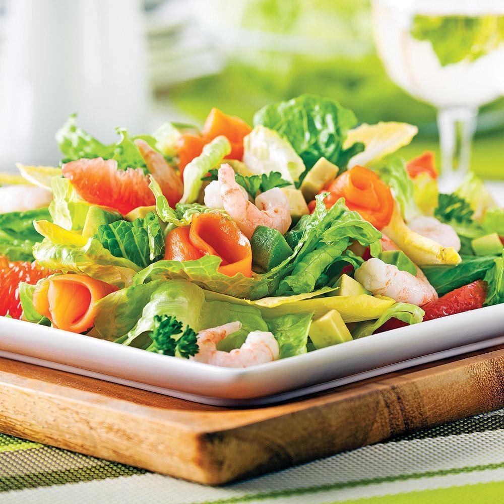 Salade De Perles Au Chorizo Impressionnant Photos Salade Fra Cheur Aux Crevettes nordiques Et Saumon Fumé
