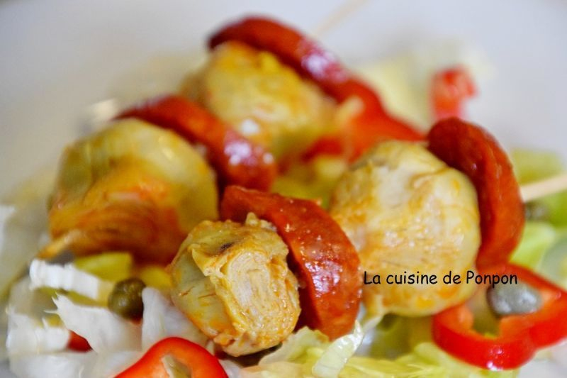 Salade De Perles Au Chorizo Luxe Photos Brochettes De Chorizo Et Artichaut Recette