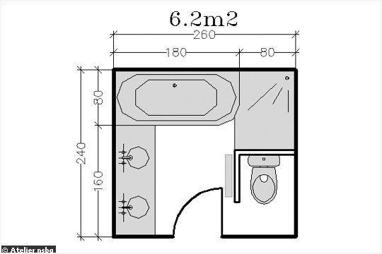Salle De Bain De 2m2 Élégant Photos Plan Salle De Bain 6m2 Meilleure Vente 18 Plans De Salle De Bains