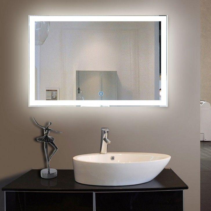 Salle De Bain Marron Et Beige Frais Collection 55 X 36 Po Miroir Led Salle De Bain Horizontal Avec L Interrupteur