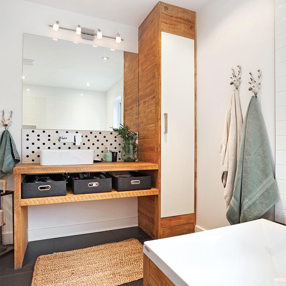 75 beau images de salle de bain rustique chic. Black Bedroom Furniture Sets. Home Design Ideas