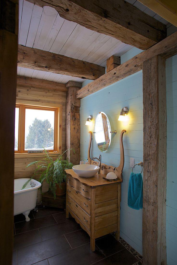 Salle De Bain Rustique Chic Élégant Photographie Meuble Salle De Bain Rustique