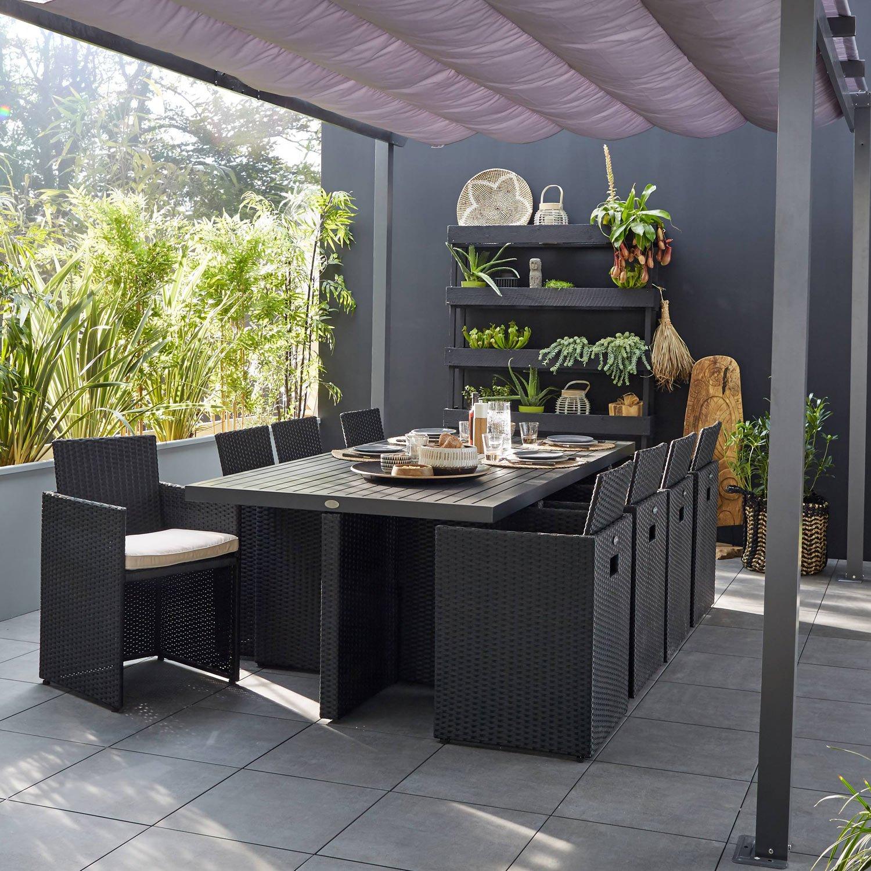 Salon De Jardin En Résine Tressée Castorama Impressionnant Collection Frais De Meuble De Terrasse Concept Idées De Table