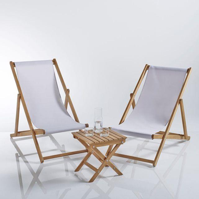 Salon Jardin La Redoute Impressionnant Images Set De 2 Chiliennes Et Table Basse La Redoute Shopping Prix