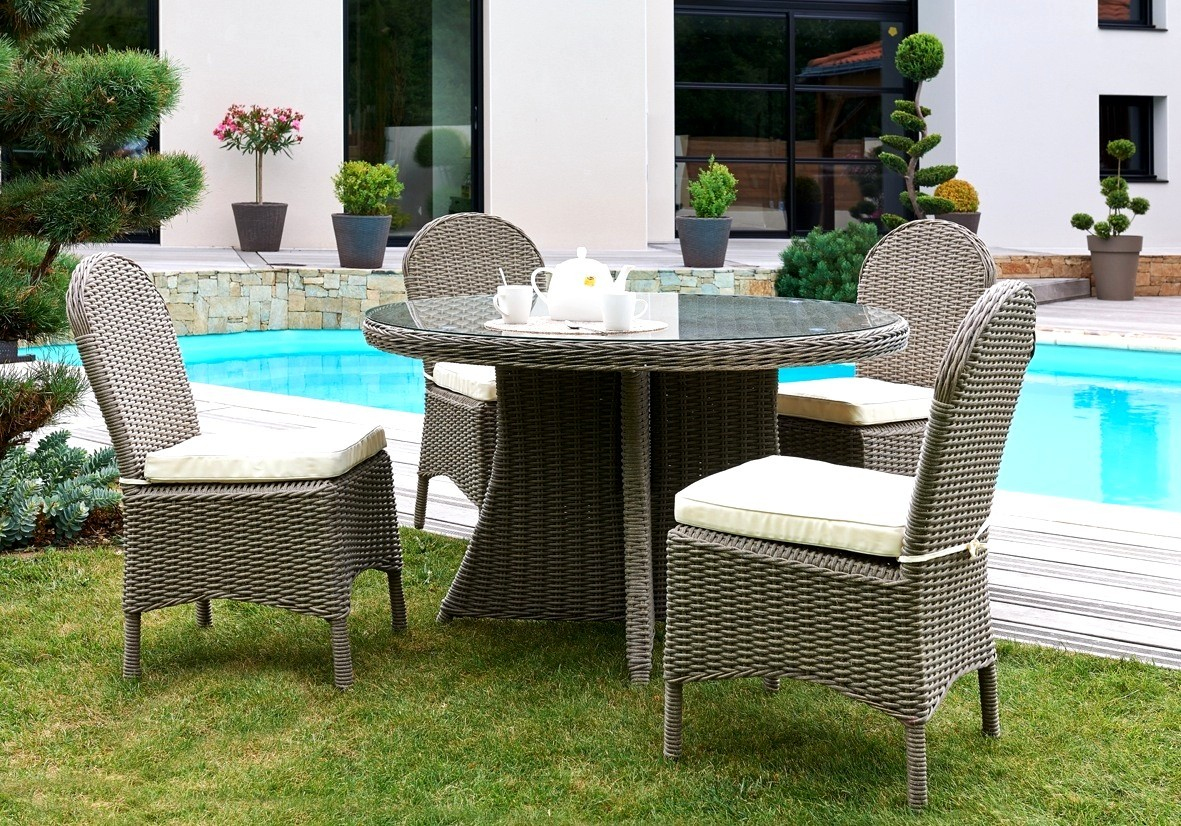 Emejing Salon Jardin Resine Tressee Table Ronde Contemporary - House ...