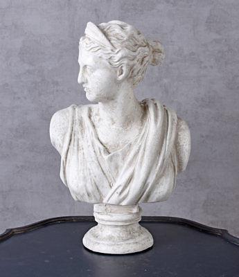 Statue Deco Grande Taille Beau Image Décoration De Jardin Ancien Buste Déesse Diana Femme Jeune Fille