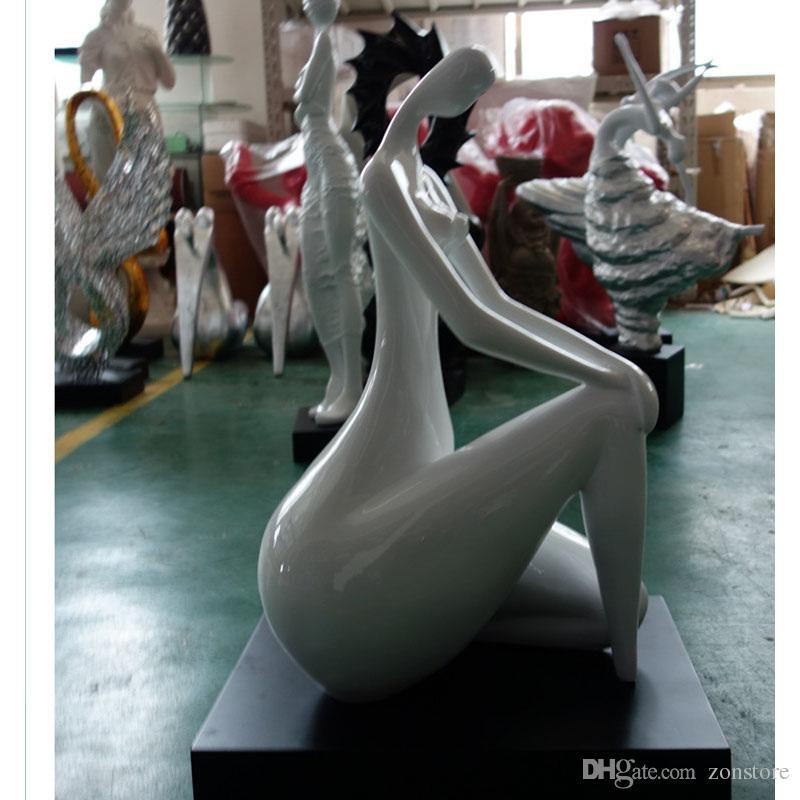 Statue Deco Grande Taille Beau Photographie Acheter Art Femelle Corps Sculpture Artisanat Argent Plaqué Art