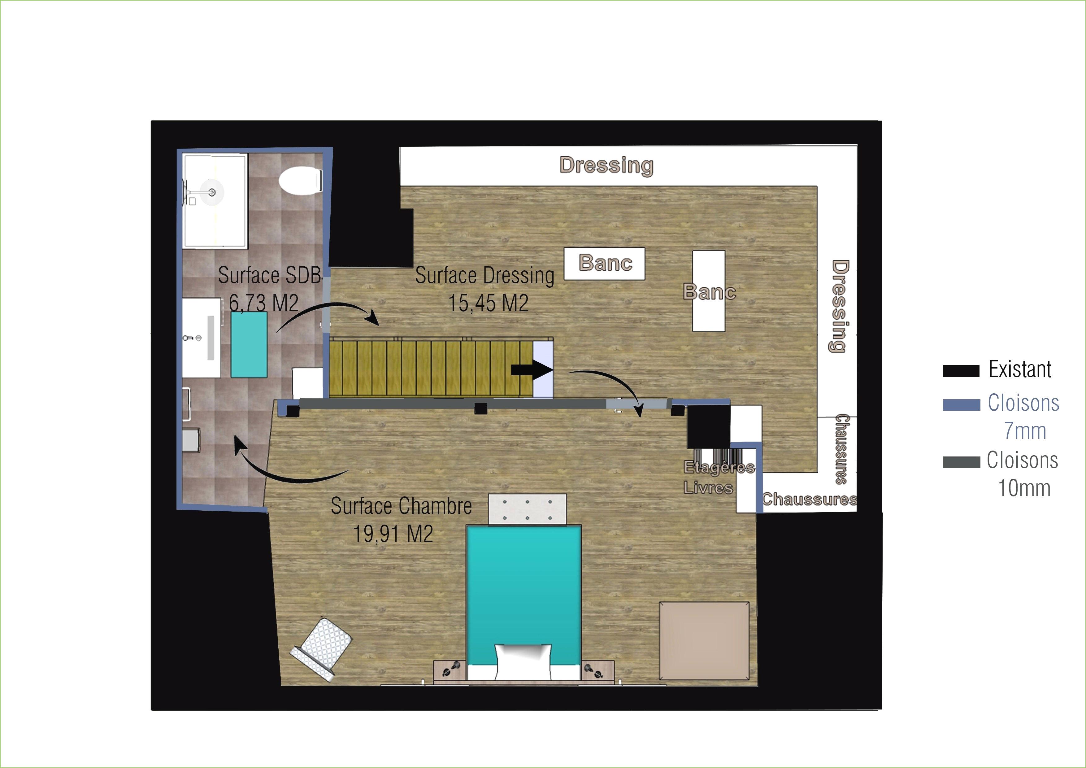 Suite Parentale Avec Salle De Bain Et Dressing Plan Beau Photographie Plan Chambre Parentale Avec Salle De Bain Et Dressing élégant 20