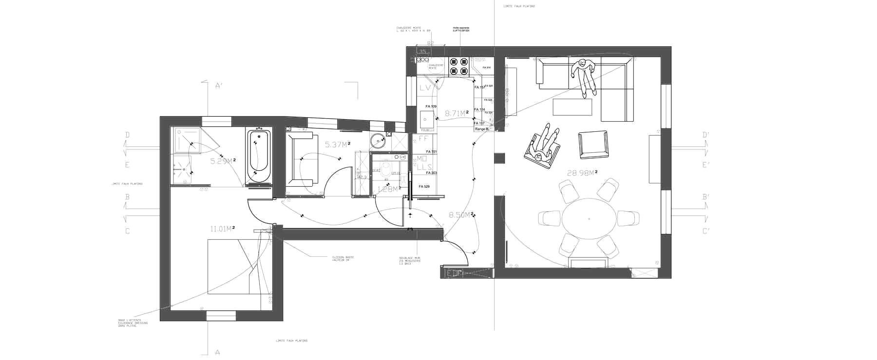 Suite Parentale Avec Salle De Bain Et Dressing Plan Impressionnant Photos Amenagement Chambre Parentale Avec Salle Bain Plan Suite Parentale